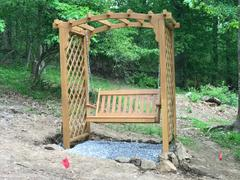ThePorchSwingCompany.com A&L Furniture Co. Jamesport Garden Arbor With Swing Review