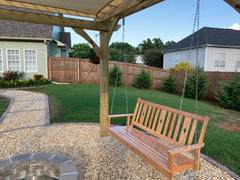 ThePorchSwingCompany.com Beecham Swing Co. Diamond Back Oak Porch Swing Review