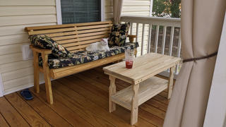 ThePorchSwingCompany.com Centerville Amish Heavy Duty Treated Coffee Table Review