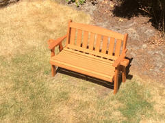 ThePorchSwingCompany.com Centerville Amish Heavy Duty 800 Lb Mission Treated Garden Bench Review