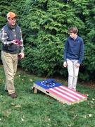 American Cornhole Association Betsy Ross Flag Regulation Cornhole Boards Bag Toss Game Set Review