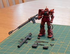 USA Gundam Store HG 1/144 MS-06S ZAKU II PRINCIPALITY OF ZEON CHAR AZNABLE'S MOBILE SUITS Red Comet Ver. Review