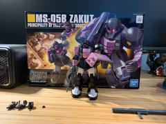 USA Gundam Store HGUC 1/144 #68 Zaku I Black Tri Stars Review