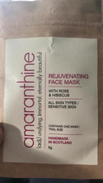 Amaranthine Beauty Rejuvenating Face Mask Review