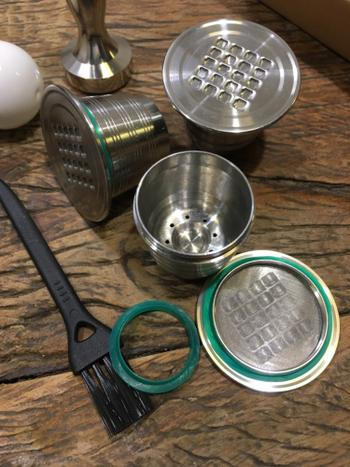 Kitchen Groups 4 Pcs Set Stainless Steel Refillable Coffee Capsule Review