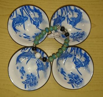 Kitchen Groups 4pcs Blue and White Porcelain Teacup Set Review