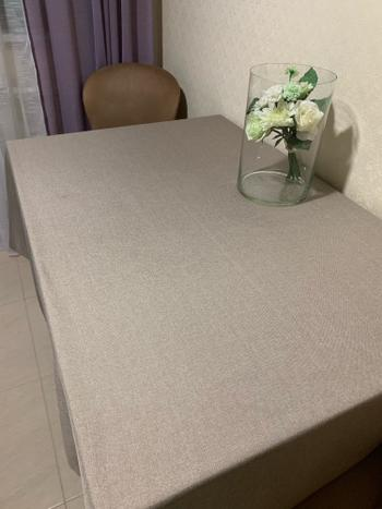 Kitchen Groups Multi-Color Solid Decorative Linen Tablecloth Review
