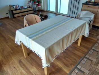 Kitchen Groups Embroidery Leaves Decorative Linen Tablecloth With Tassel Review