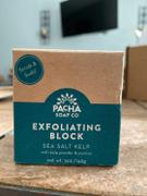 Pacha Soap Co. Sea Salt Kelp Scrub + Suds Exfoliating Block Review