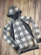 So Sew English Grey/Soft Black BUFFALO PLAID -French Terry- By the yard Review