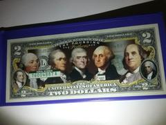 Proud Patriots FOUNDING FATHERS OF THE UNITED STATES Colorized Obverse $2 Bill Genuine U.S. Legal Tender Review