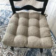 Barnett Home Decor Brisbane Camel Tweed Dining Chair Pad - Latex Foam Fill, Reversible Review