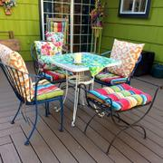 Barnett Home Decor Westport Cabana Stripe Red Indoor / Outdoor Dining Chair Pads & Patio Cushions Review