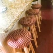 Barnett Home Decor Checkers Red & Tan  Bar Stool Cover with Cushion and Adjustable Yoke Review