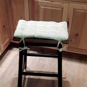 Barnett Home Decor Ticking Stripe Aqua Saddle Stool Cushions - Gaucho Stool - Satori Seat Cushions Review
