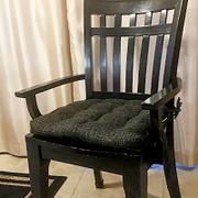 Barnett Home Decor Brisbane Charcoal Black Dining Chair Pads - Latex Foam Fill, Reversible - Made in USA Review