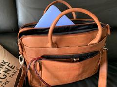 Vintage Leather  Leather Laptop Bag - Santosa Review