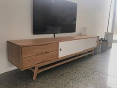 Interior Secrets Dane 2.1m Wooden TV Entertainment Unit - White Review