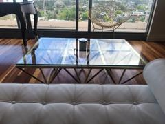Interior Secrets Tafari 1.2m Coffee Table - Glass Top - Brushed Gold Base Review