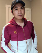 Sarman Fashion - Wholesale Clothing Fashion Brand for Men from Canada Emperor - Burgundy/White Hoodie for Men Review