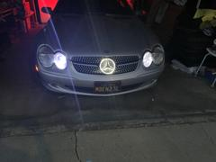 55tech Motors Mercedes R230 Diamond Grill LED Illuminated Star emblem light SL500 Grille SL600 Review