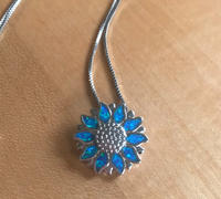 NatureJewelry.co Australian Opal Sunflower Necklace Review