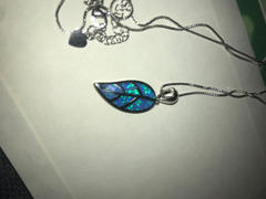 NatureJewelry.co Australian Blue Opal Leaf Necklace Review