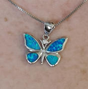 Brandywine Boutique Blue Opal Butterfly Pendant Necklace Review