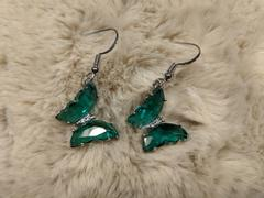 Brandywine Boutique Green Crystal Butterfly Earrings Review