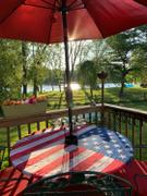 LinensNow Brielle Home American Flag 100% Cotton Fabric Fitted Table Cover Review
