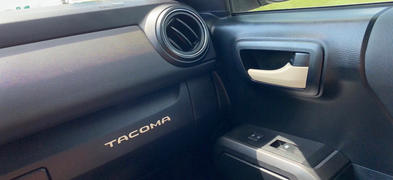 Tacoma Lifestyle Glove Box TACOMA Letter Inserts (2016-2021) Review