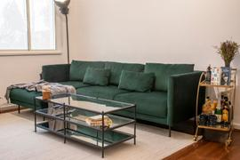 Nordik Living Glasgow 3 Seater Chaise Lounge Left - Velvet Green Review
