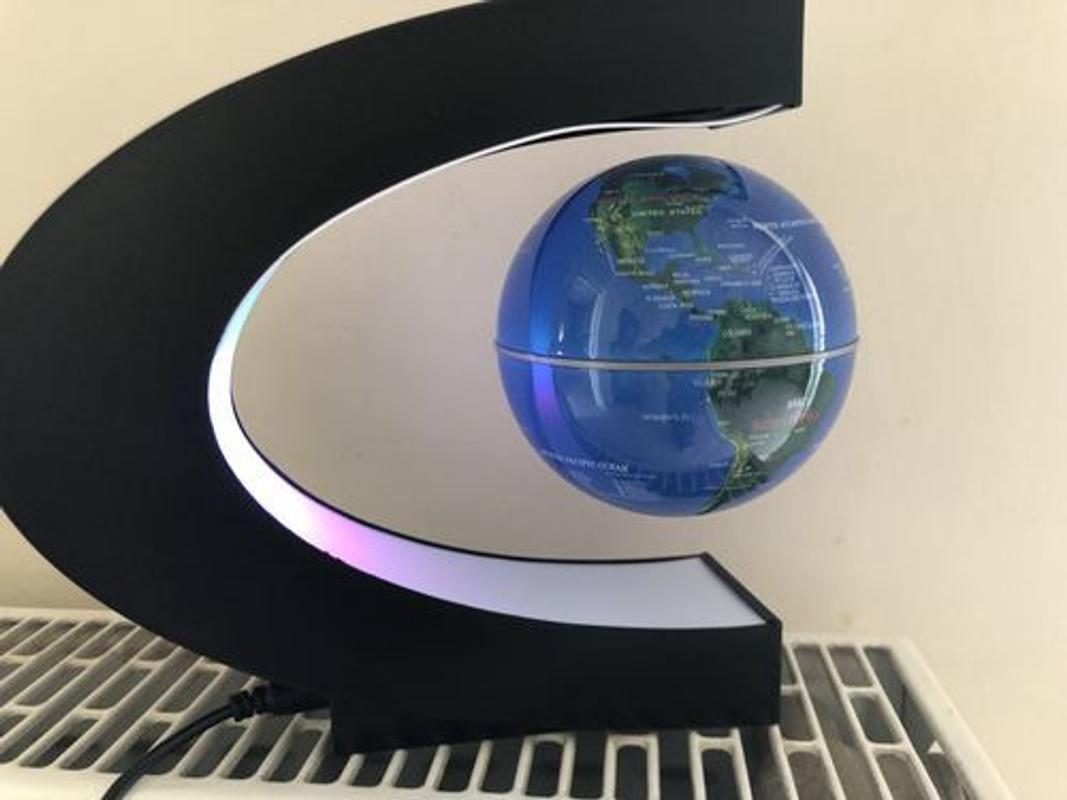 electronic magnetic levitation floating globe antigravity led light t home decor 2 colors russian warehouse free shipping