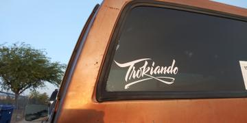 Trokiando Lettering Decal - White Review
