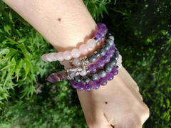 Lily Rose Jewelry Co Limited Edition Triple Power Labradorite, Amethyst, Rose Quartz 108 Mala Necklace Bracelet Review