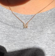 Happy Jewelers Small Diamond Initial Necklace Review