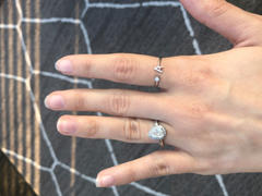 Happy Jewelers Initial Ring w/ Single Diamond Review