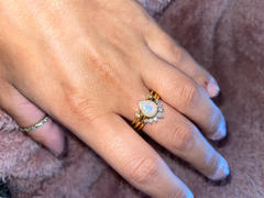 local eclectic Pear Stacking Ring Set in Gold with White Opal Review