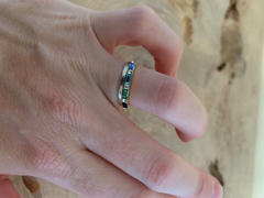 local eclectic Sea Siren Multi Gem Baguette Stacking Ring Review