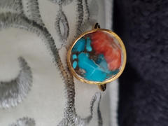 local eclectic Statement Oyster Turquoise Ring Review