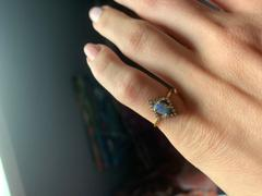 local eclectic Australian Blue Opal & Diamond Ring Review