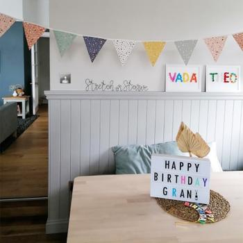 Bonjour Baby Showers Terrazzo Print Bunting Review