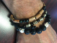 Dharma Shop Lava and Skull Reflection Wrist Mala Review