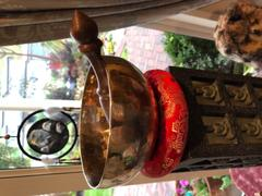 Dharma Shop Red Singing Bowl Ring Cushion Review