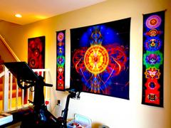 Pumayana Sun Mandala Tapestry | Sacred Geometry Wall Hanging | Sun Matrix Review