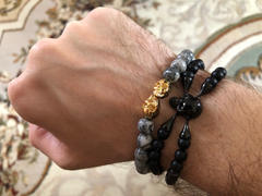 SkeletonHD Outlaws Jasper Twin Skull Bracelet Review