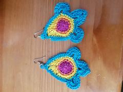 Deramores Colourburst Earrings Crochet Kit and Pattern in Rico Design Yarn Review