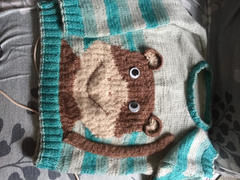 Deramores Cheeky Little Monkey Sweater Knitting Kit and Patter in Scheepjes Yarn Review