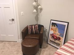 Belleze Furniture Lydia Chair with Ottoman Set Review