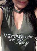Sophia Jazmine Vegan Is The New Sexy- Women's Flowy Cut Neck Tank Review